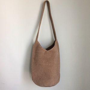 The Sak   Crochet Bucket Purse Boho Bag